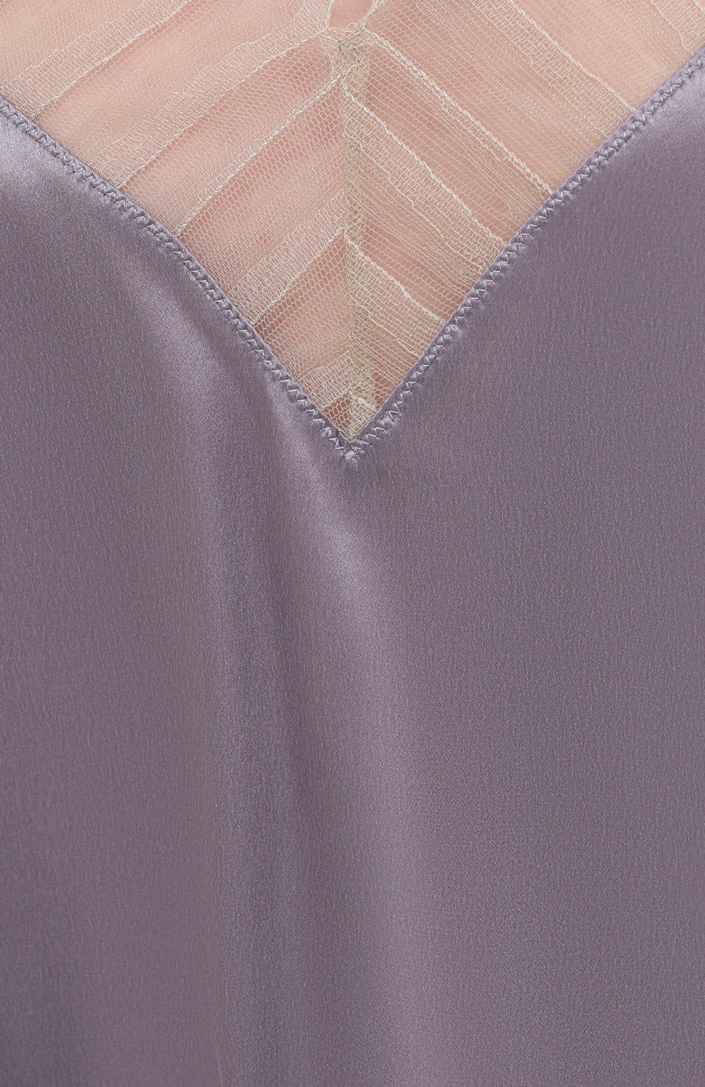 Женский шелковый топ IRO сиреневого цвета, арт. WP16BERWYN | Фото 5