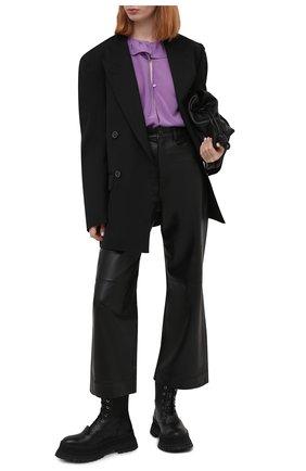 Женская шелковая блузка IRO фиолетового цвета, арт. WP16NIKL0 | Фото 2