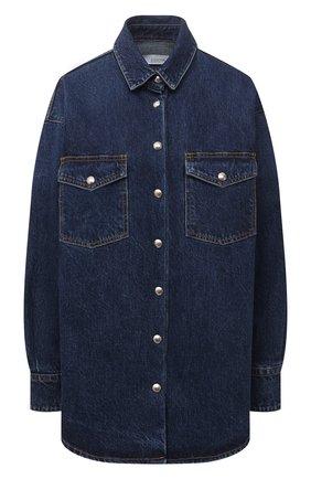 Женская джинсовая рубашка IRO темно-синего цвета, арт. WP18FRAN | Фото 1