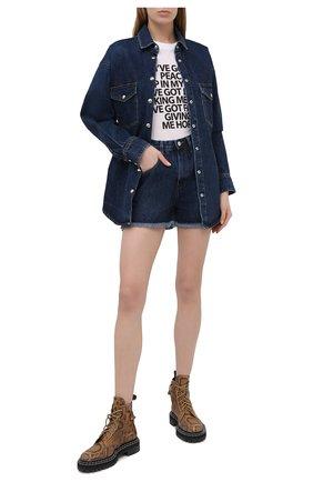 Женская джинсовая рубашка IRO темно-синего цвета, арт. WP18FRAN | Фото 2