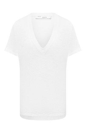 Женская льняная футболка IRO белого цвета, арт. WP19HEL0ISE | Фото 1
