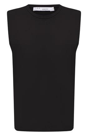 Женская хлопковая футболка IRO черного цвета, арт. WP21L0UD | Фото 1