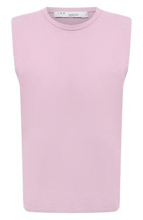 Женская хлопковая футболка IRO светло-розового цвета, арт. WP21L0UD | Фото 1