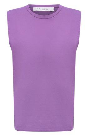 Женская хлопковая футболка IRO фиолетового цвета, арт. WP21L0UD | Фото 1