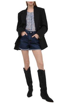 Женские джинсовые шорты IRO темно-синего цвета, арт. WP30BAZ0U | Фото 2