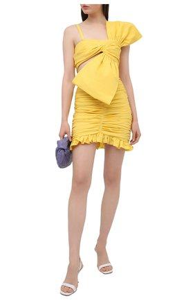 Женская хлопковая юбка GIUSEPPE DI MORABITO желтого цвета, арт. SS21045SK-126 | Фото 2