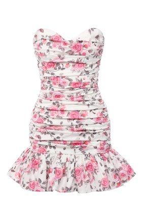 Женское хлопковое платье GIUSEPPE DI MORABITO разноцветного цвета, арт. SS21172DR-126-ST12 | Фото 1
