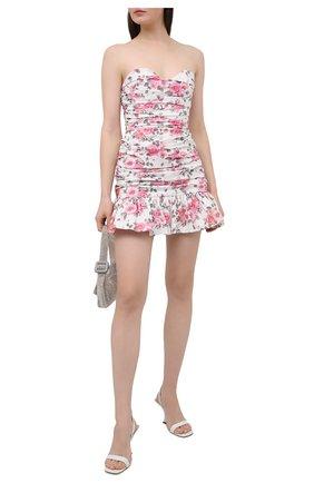 Женское хлопковое платье GIUSEPPE DI MORABITO разноцветного цвета, арт. SS21172DR-126-ST12 | Фото 2