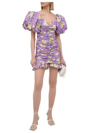 Женское хлопковое платье GIUSEPPE DI MORABITO сиреневого цвета, арт. SS21180DR-126-ST12 | Фото 2
