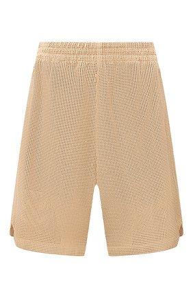 Женские кожаные шорты BOTTEGA VENETA бежевого цвета, арт. 652786/V0IT0 | Фото 1