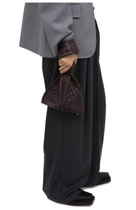 Женская сумка twist mini BOTTEGA VENETA темно-фиолетового цвета, арт. 652001/VCPP0 | Фото 2 (Материал: Натуральная кожа; Размер: mini; Сумки-технические: Сумки top-handle)