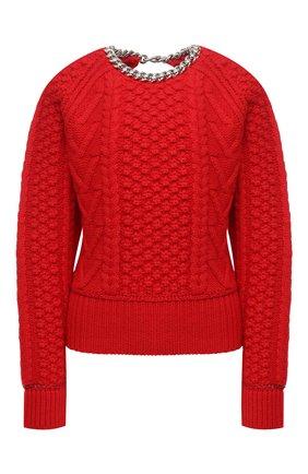 Женский шерстяной свитер BOTTEGA VENETA красного цвета, арт. 651630/V0GP0   Фото 1