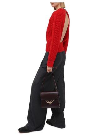Женский шерстяной свитер BOTTEGA VENETA красного цвета, арт. 651630/V0GP0   Фото 2