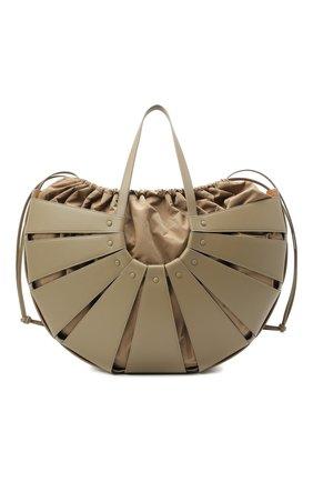 Женский сумка shell large BOTTEGA VENETA серого цвета, арт. 651578/VMAUH | Фото 1