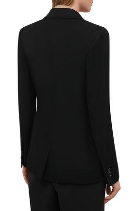 Женский шерстяной жакет BOTTEGA VENETA черного цвета, арт. 651573/VKIS0 | Фото 4 (Материал внешний: Шерсть; Рукава: Длинные; Длина (для топов): Стандартные; Случай: Формальный; Материал подклада: Вискоза; Женское Кросс-КТ: Жакет-одежда; Стили: Кэжуэл)