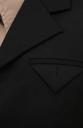 Женский шерстяной жакет BOTTEGA VENETA черного цвета, арт. 651573/VKIS0 | Фото 5 (Материал внешний: Шерсть; Рукава: Длинные; Длина (для топов): Стандартные; Случай: Формальный; Материал подклада: Вискоза; Женское Кросс-КТ: Жакет-одежда; Стили: Кэжуэл)