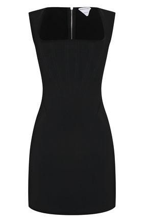 Женское платье из вискозы и шелка BOTTEGA VENETA черного цвета, арт. 651230/VKE10 | Фото 1