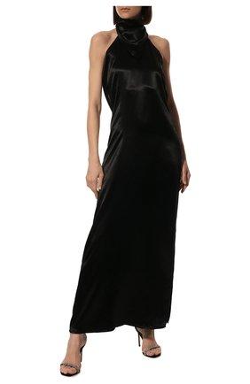 Женское платье BOTTEGA VENETA черного цвета, арт. 648168/V0CS0 | Фото 2