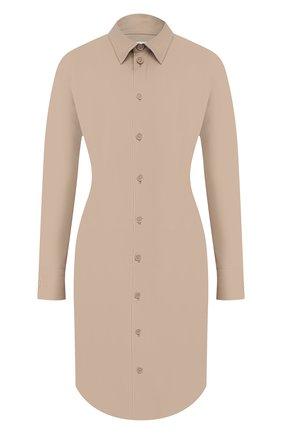 Женское хлопковое платье BOTTEGA VENETA бежевого цвета, арт. 647409/VKIX0 | Фото 1