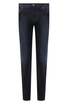 Мужские джинсы ANDREA CAMPAGNA темно-синего цвета, арт. AC402/T56.W301 | Фото 1 (Материал внешний: Хлопок; Длина (брюки, джинсы): Стандартные; Силуэт М (брюки): Прямые; Стили: Кэжуэл)