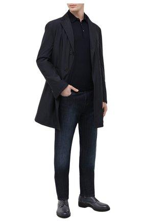 Мужские джинсы ANDREA CAMPAGNA темно-синего цвета, арт. AC402/T56.W301 | Фото 2 (Материал внешний: Хлопок; Длина (брюки, джинсы): Стандартные; Силуэт М (брюки): Прямые; Стили: Кэжуэл)