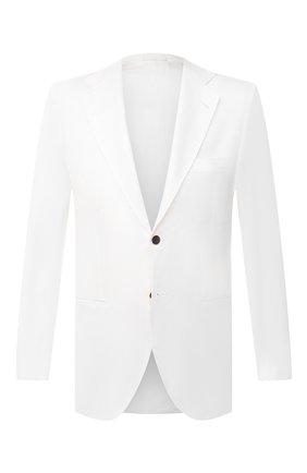 Мужской хлопковый пиджак KITON белого цвета, арт. UG81H07609 | Фото 1