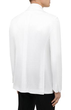 Мужской хлопковый пиджак KITON белого цвета, арт. UG81H07609   Фото 4