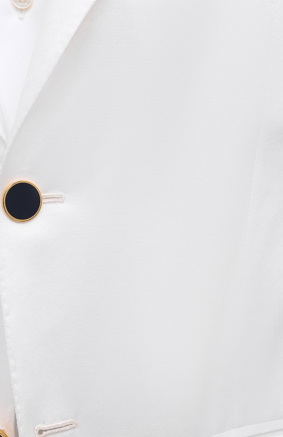 Мужской хлопковый пиджак KITON белого цвета, арт. UG81H07609   Фото 5