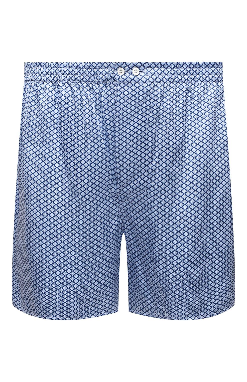 Мужские шелковые боксеры ZIMMERLI голубого цвета, арт. 6000-75134   Фото 1 (Материал внешний: Шелк; Кросс-КТ: бельё; Мужское Кросс-КТ: Трусы)