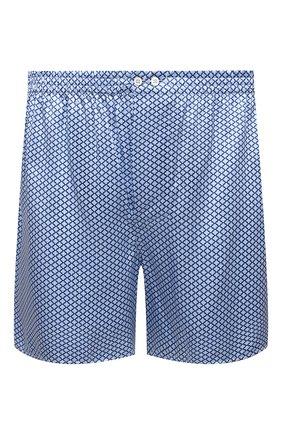 Мужские шелковые боксеры ZIMMERLI голубого цвета, арт. 6000-75134 | Фото 1