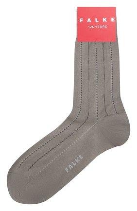 Мужские хлопковые носки FALKE серого цвета, арт. 12470   Фото 1