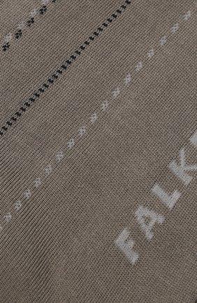 Мужские хлопковые носки FALKE серого цвета, арт. 12470   Фото 2