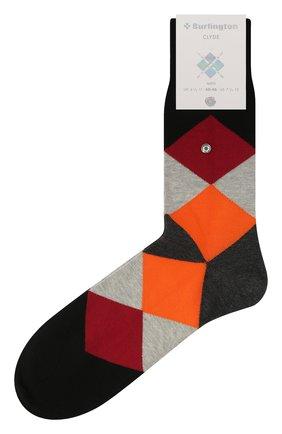 Мужские хлопковые носки BURLINGTON серого цвета, арт. 20942 | Фото 1