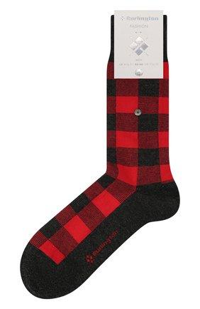 Мужские носки из хлопка и кашемира BURLINGTON красного цвета, арт. 21920 | Фото 1