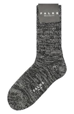 Мужские хлопковые носки FALKE серого цвета, арт. 12430 | Фото 1