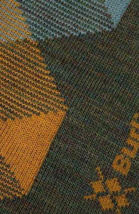 Мужские шерстяные носки BURLINGTON хаки цвета, арт. 20587 | Фото 2