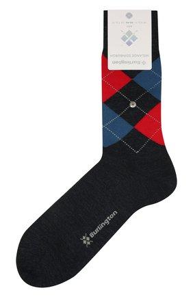 Мужские шерстяные носки BURLINGTON синего цвета, арт. 21183 | Фото 1