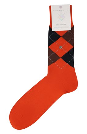 Мужские хлопковые носки manchester BURLINGTON оранжевого цвета, арт. 20182 | Фото 1