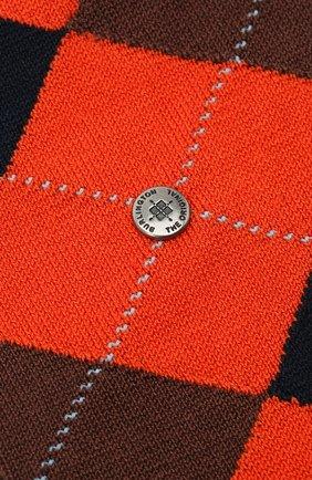 Мужские хлопковые носки manchester BURLINGTON оранжевого цвета, арт. 20182 | Фото 2
