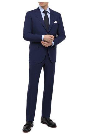 Мужской шерстяной костюм KITON темно-синего цвета, арт. UA81K01X54 | Фото 1