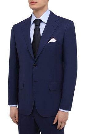 Мужской шерстяной костюм KITON темно-синего цвета, арт. UA81K01X54 | Фото 2