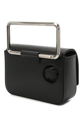 Мужская кожаная сумка OFF-WHITE черного цвета, арт. 0MNP003R21LEA001 | Фото 3 (Материал: Натуральная кожа; Ремень/цепочка: На ремешке)