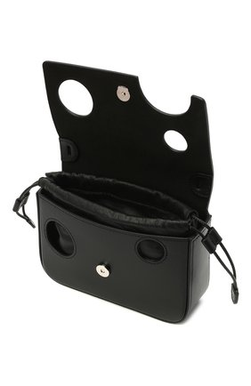 Мужская кожаная сумка OFF-WHITE черного цвета, арт. 0MNP003R21LEA001 | Фото 4 (Материал: Натуральная кожа; Ремень/цепочка: На ремешке)