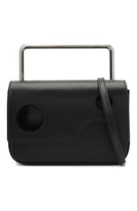 Мужская кожаная сумка OFF-WHITE черного цвета, арт. 0MNP003R21LEA001 | Фото 5 (Материал: Натуральная кожа; Ремень/цепочка: На ремешке)