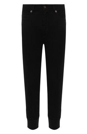 Мужские хлопковые джоггеры NEIL BARRETT черного цвета, арт. PBDE318/Q801T | Фото 1