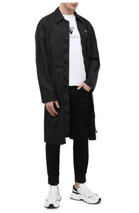 Мужские хлопковые джоггеры NEIL BARRETT черного цвета, арт. PBDE318/Q801T | Фото 2