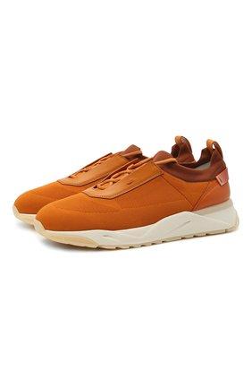 Мужские комбинированные кроссовки SANTONI оранжевого цвета, арт. MBI021455BTTCNITA20   Фото 1