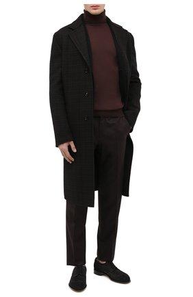Мужские замшевые дерби SANTONI темно-серого цвета, арт. MCC015761PC4NRVLG56 | Фото 2 (Мужское Кросс-КТ: Броги-обувь; Стили: Классический; Материал внутренний: Натуральная кожа; Материал внешний: Замша)