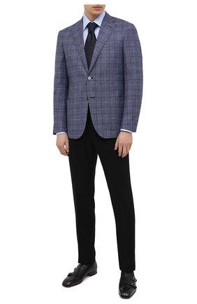 Мужские кожаные лоферы SANTONI черного цвета, арт. MCLI17570LA3SGTHN01 | Фото 2 (Стили: Классический; Мужское Кросс-КТ: Лоферы-обувь; Материал внутренний: Натуральная кожа)