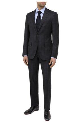 Мужские кожаные оксфорды SANTONI черного цвета, арт. MCME17516SA3EHMLN01 | Фото 2 (Материал внутренний: Натуральная кожа; Стили: Классический)